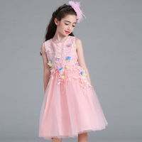 Flower Prom Cocktail Party Girls Dresses For Wedding Summer Homecoming Brazil Beautiful Cheap Vestidos Children Fashion