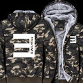 Casual Army Camouflage Coat Jacket Hiphop Eminem Hoodie Winter Men's Warm Sweatshirts