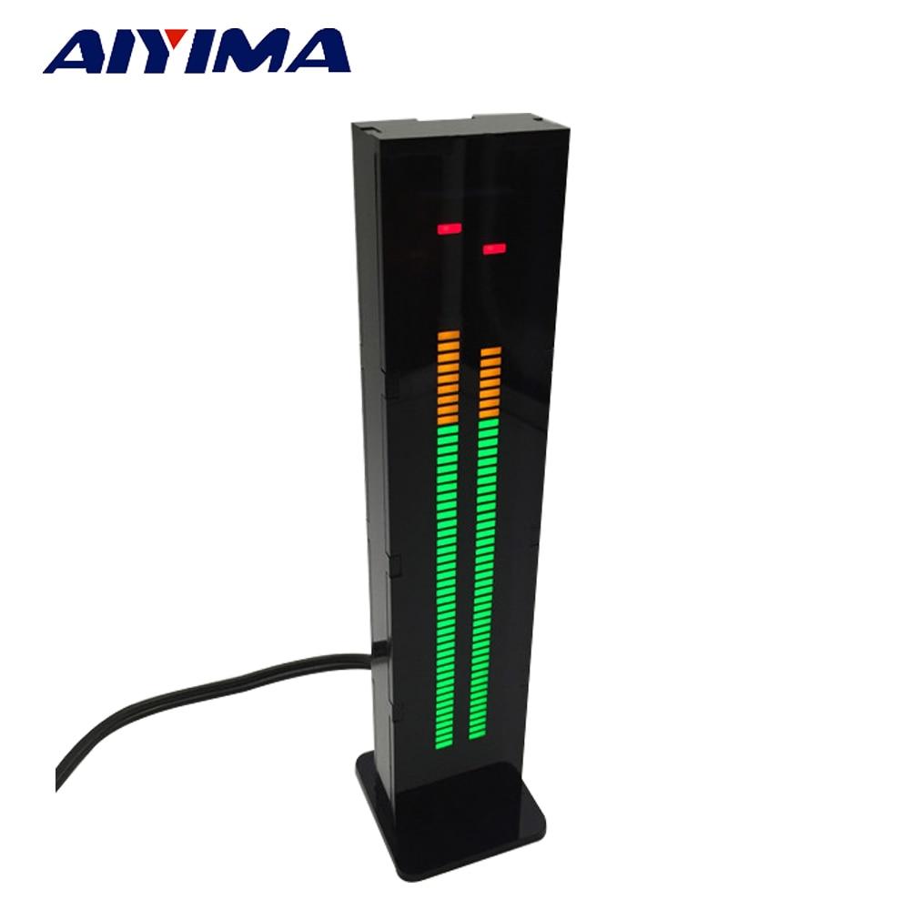 AIYIMA AS60 Dual 60 Professional LED Level Volume Display Music Spectrum Electronic DIY Kits Light VU Table ask11 sector pointer level indicator vu table led music spectrum electronic diy kit