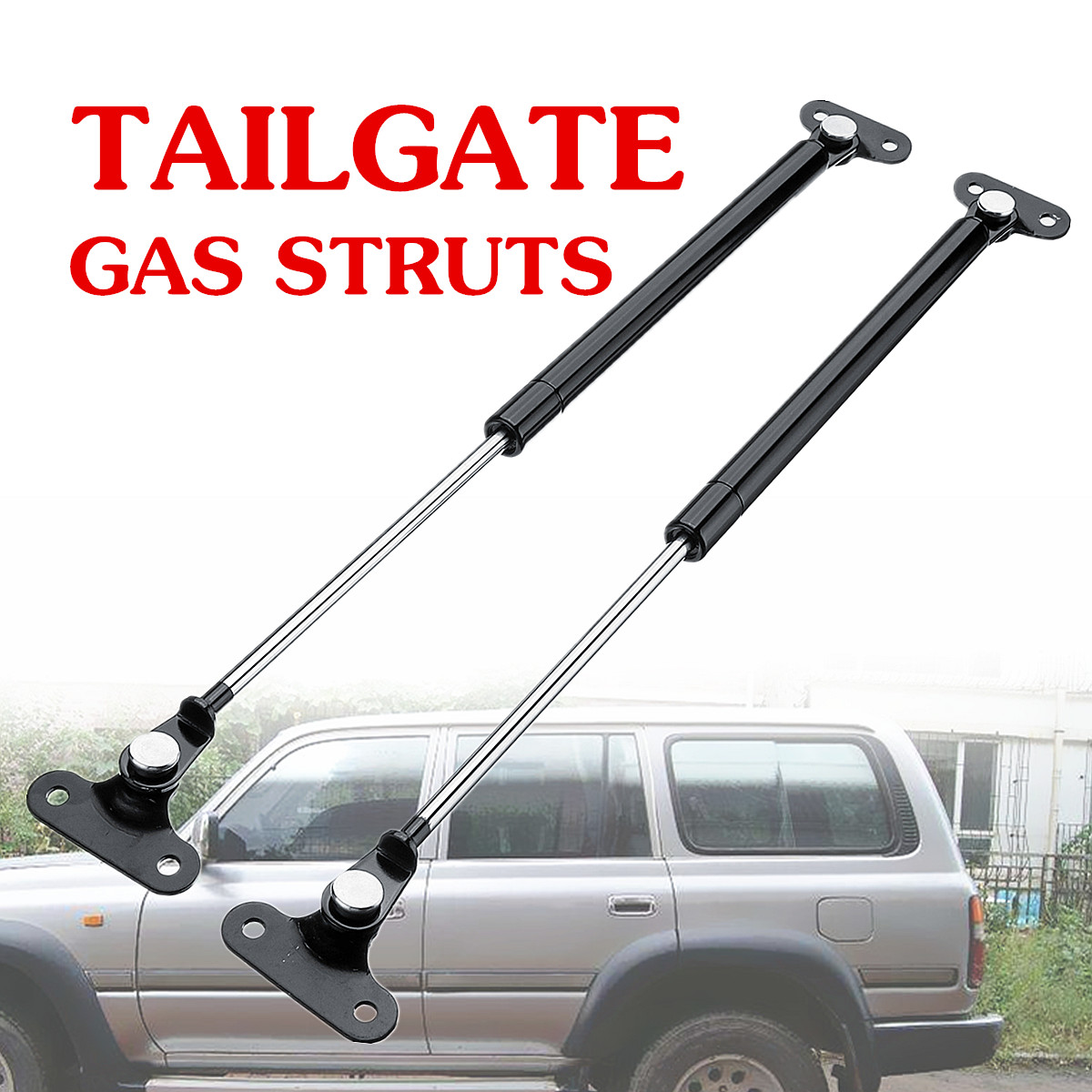 1 Pair Rear Tailgate Gas Struts Supports For Toyota Land Cruiser 80 Series 90-97 Steel 53cm Direct Fit Replacement Convenient1 Pair Rear Tailgate Gas Struts Supports For Toyota Land Cruiser 80 Series 90-97 Steel 53cm Direct Fit Replacement Convenient