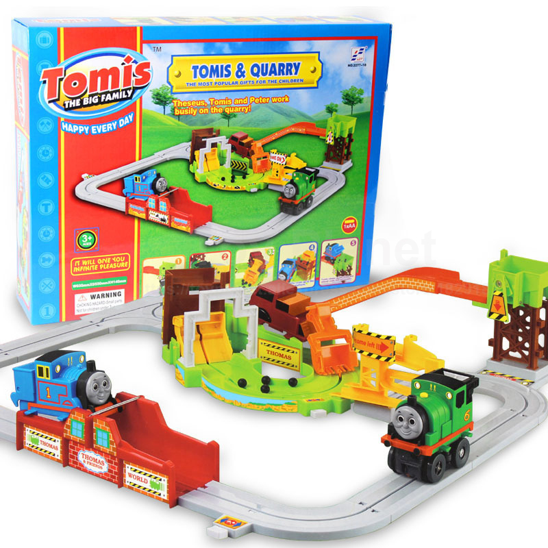 Electric Thomas & Quarry Trains Track Set Trackmaster Model Road Educational Preschool Toys For Kids Diecasts & Toy Vehicles