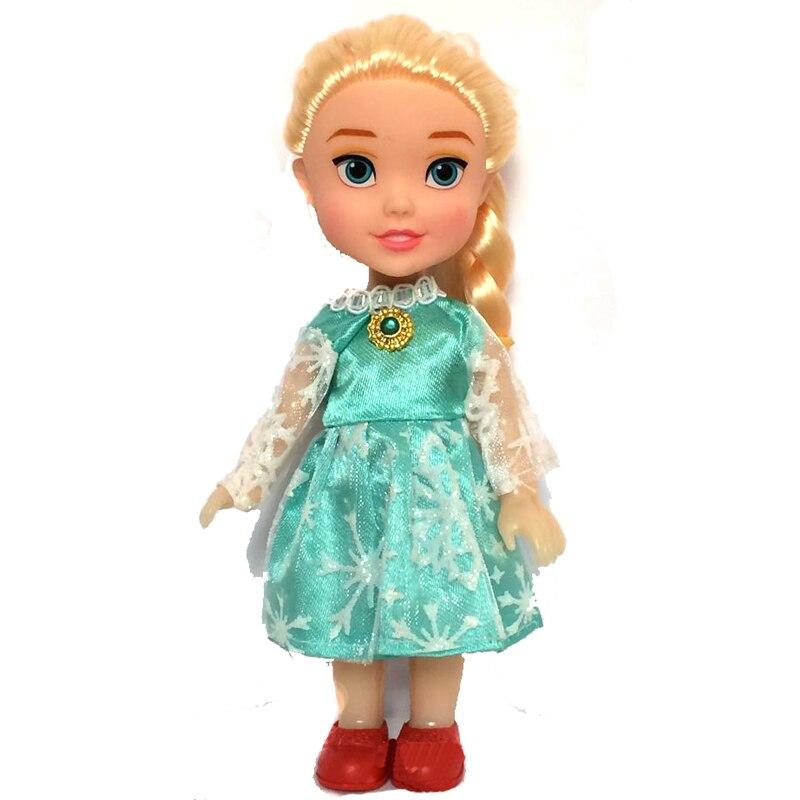 aliexpresscom buy 2pcs 2015 princess anna elsa dolls for girls toysbonecas das princesas la reine des neiges16cm small plastic congelados doll from