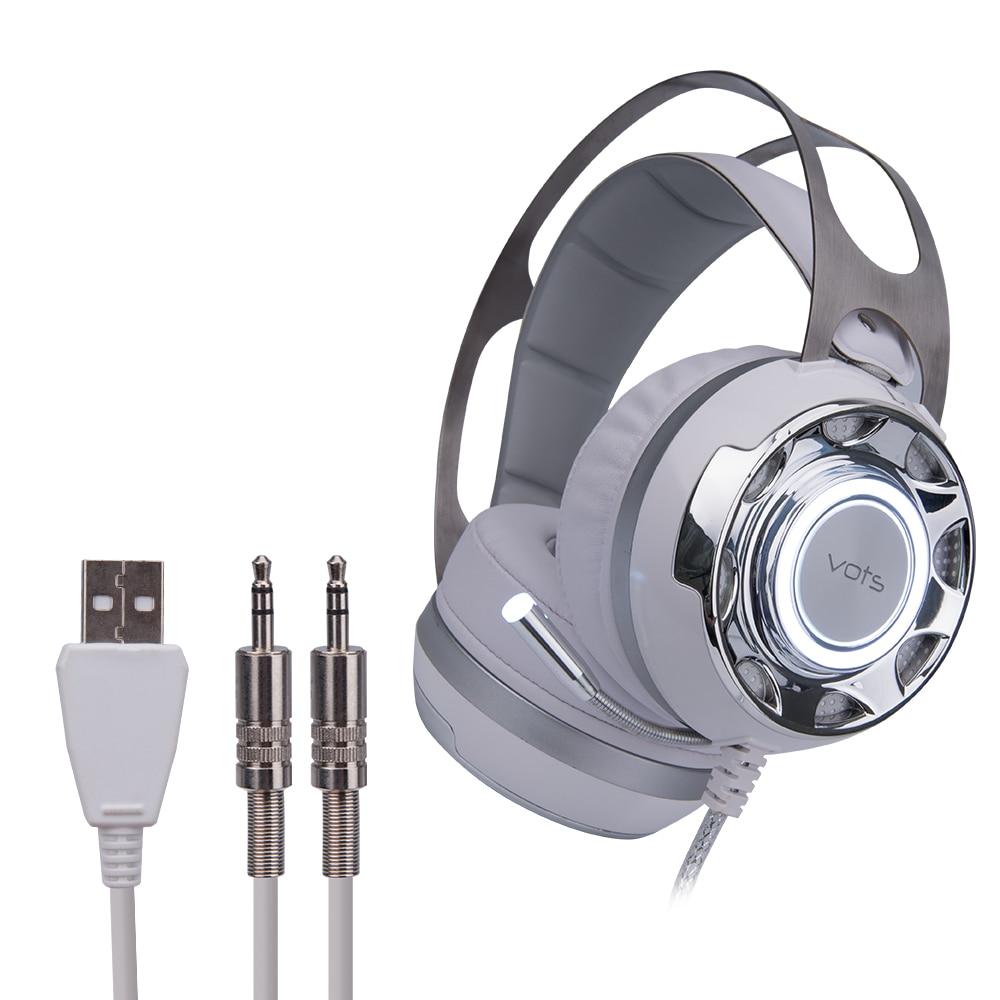 Pro Gaming Casques Lumineux Vibrations Gaming Casque Avec Microphone Filaire Led Lumière Pour PC Portable Ordinateur Gamer