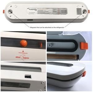 Image 5 - Weiß Dolphin Vakuum Lebensmittel Sealer 110V 220V Elektrische Haushalts Mini Lebensmittel Vakuum Versiegelung Verpackung Maschine Mit 10 stücke lagerung taschen