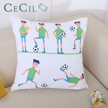 45x45 World Cup Trophy Pattern Sports Souvenirs Soccer Awards Cups Cotton Linen Pillow Cases Sofa Cushion Cover Home Decor цены онлайн
