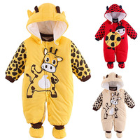 Autumn Winter Baby Romper 100% Cotton Animal Pattern Baby Clothing Cartoon Baby Products Newborn Infant Romper