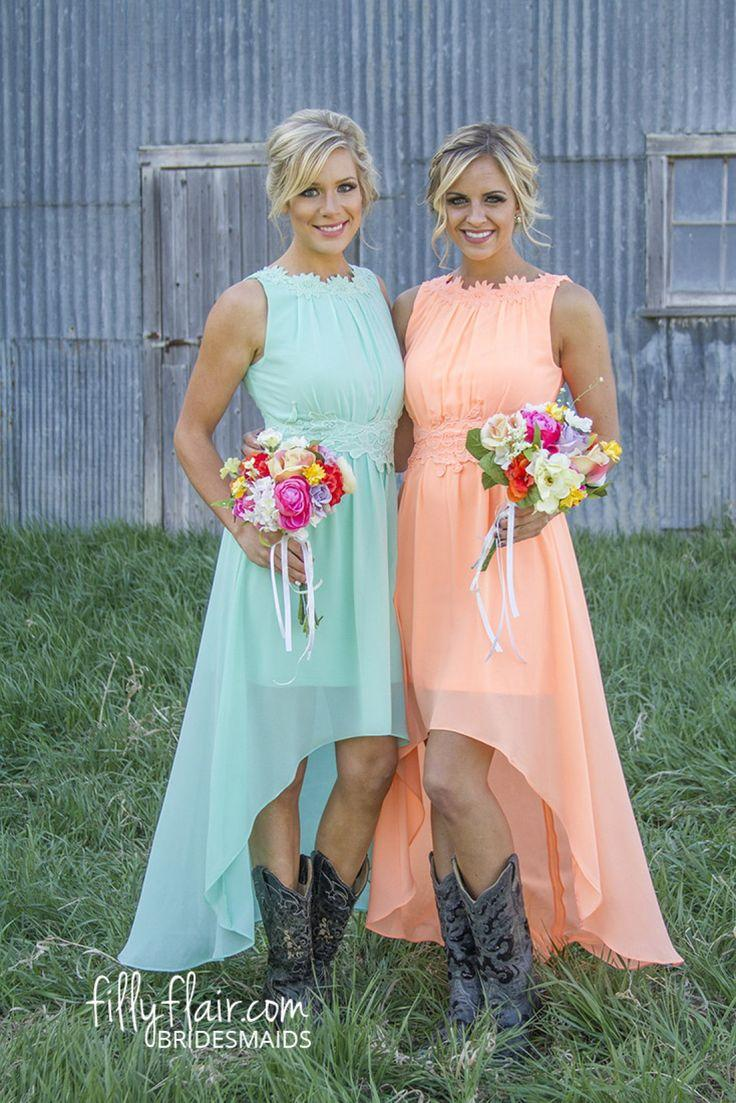 Country style bridesmaids dress