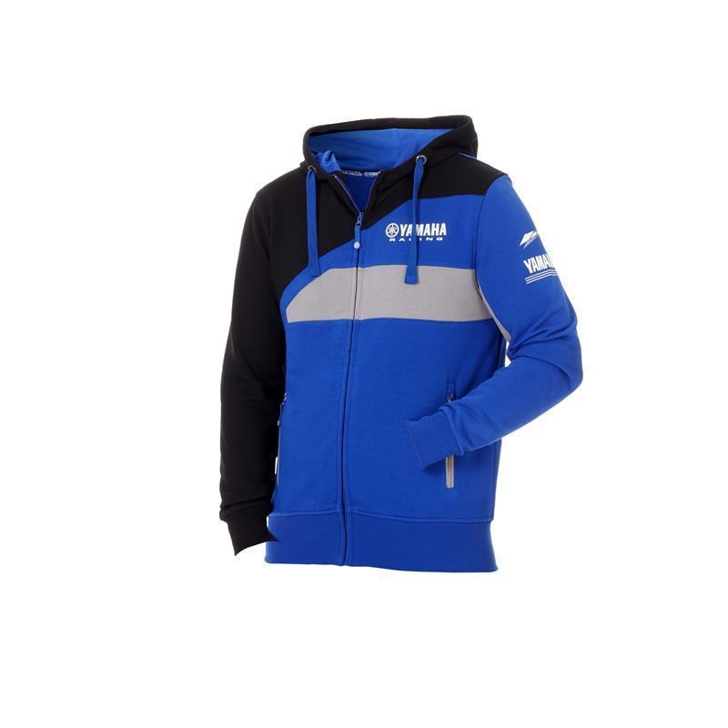 New 100% Cotton Moto GP For Yamaha m1 Team Racing Hoodie Blue Sports Crew Fleece Sweatshirt color block crew neck graphic sweatshirt
