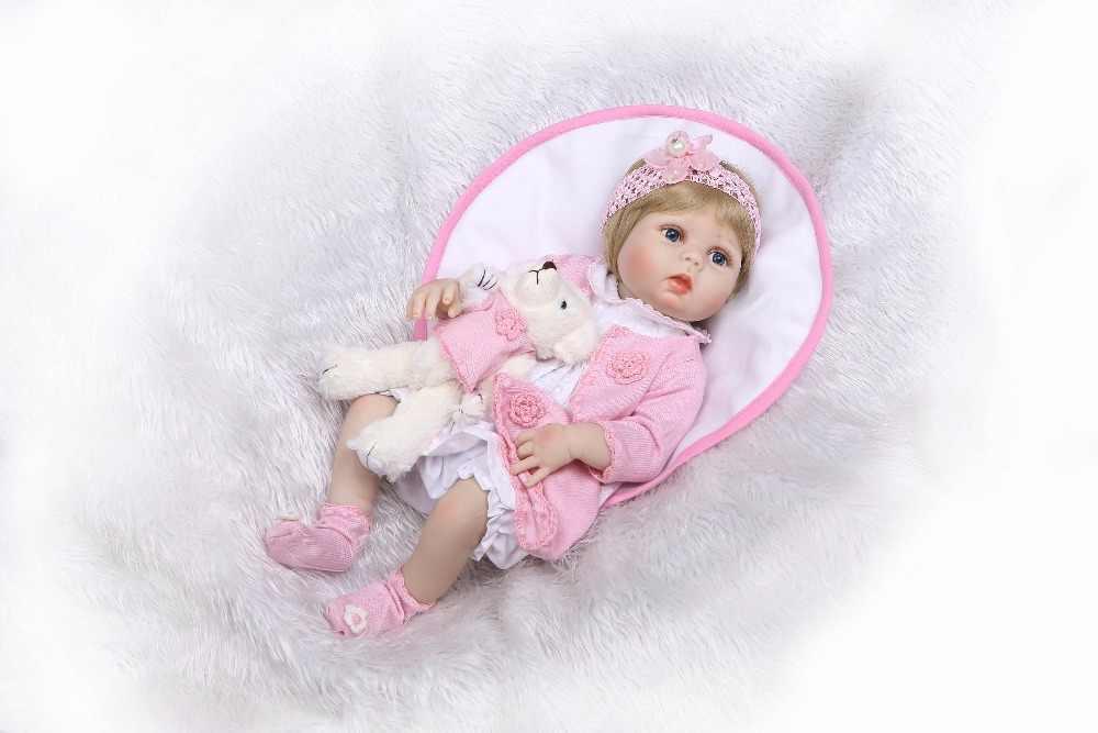 "NPk 22"" doll reborn toys for boys girls gift full silicone body vinyl reborn babies bebe real alive reborn bonecas brinquedo"