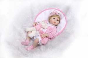"Image 5 - NPk 22 ""בובת reborn צעצועי בני בנות מתנה מלא סיליקון גוף ויניל reborn תינוקות bebe אמיתי בחיים reborn bonecas brinquedo"