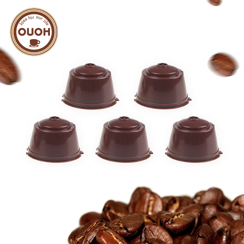 buy 5pcs pack use 250 times refillable dolce gusto coffee capsule nescafe dolce. Black Bedroom Furniture Sets. Home Design Ideas