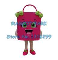 mascot pink shopping bag mascot costume adult size cartoon paper bags theme shopping costumes advertising carnival fancy dress