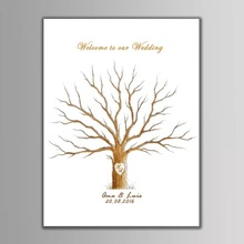 Custom Guest Book Personalize Wedding Gifts for Guests Love Tree Fingerprint Painting Party Decorations livre dor mariage