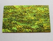 Grueso de color verde amarillo concha de abulón paua shell laminado hojas de 1.5mm de espesor 140x240mm shell incrustación de muebles de papel accesorios de guitarra
