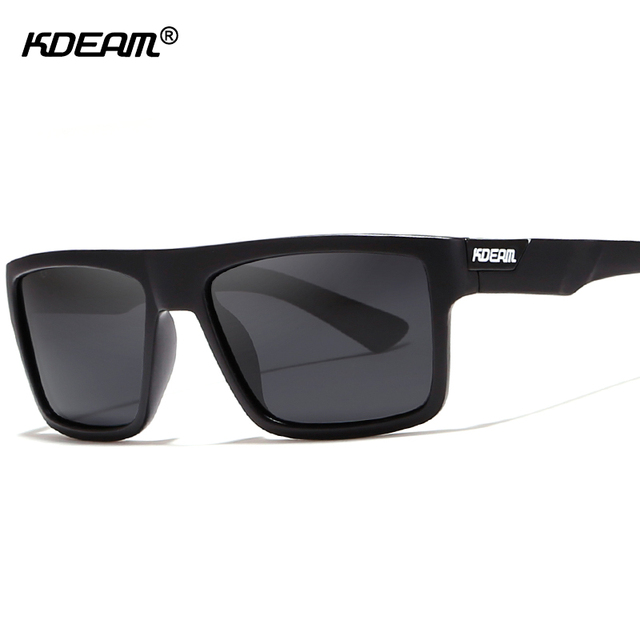 c03a7b1834a KDEAM Rectangle Men Sunglasses Polarized With Elastic-paint Temples  Unmatched in Quality Sun Glasses Male With Design Box KD05X