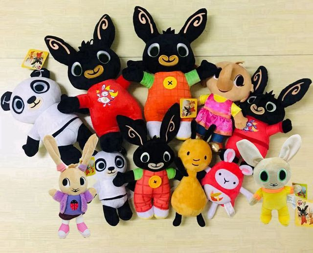 25-35cm Cartoon Bing Bunny Rabbit Plush Toy, Fnaf Bing Friends Flop Sula Elephant Panda Bear Stuffed Animal Plush Doll For Girls