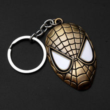 2019.NEW Metal Superhero Key Chain Women Trinket Key Chain V for Vendetta Iron Man Key Ring Jewelry Gift(China)