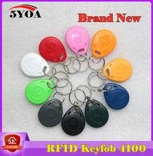 10pcs 5YOA EM4100 125khz ID Keyfob RFID Tag Tags Access Control Card Porta TK4100 Key Fob Token Ring Proximity Chip