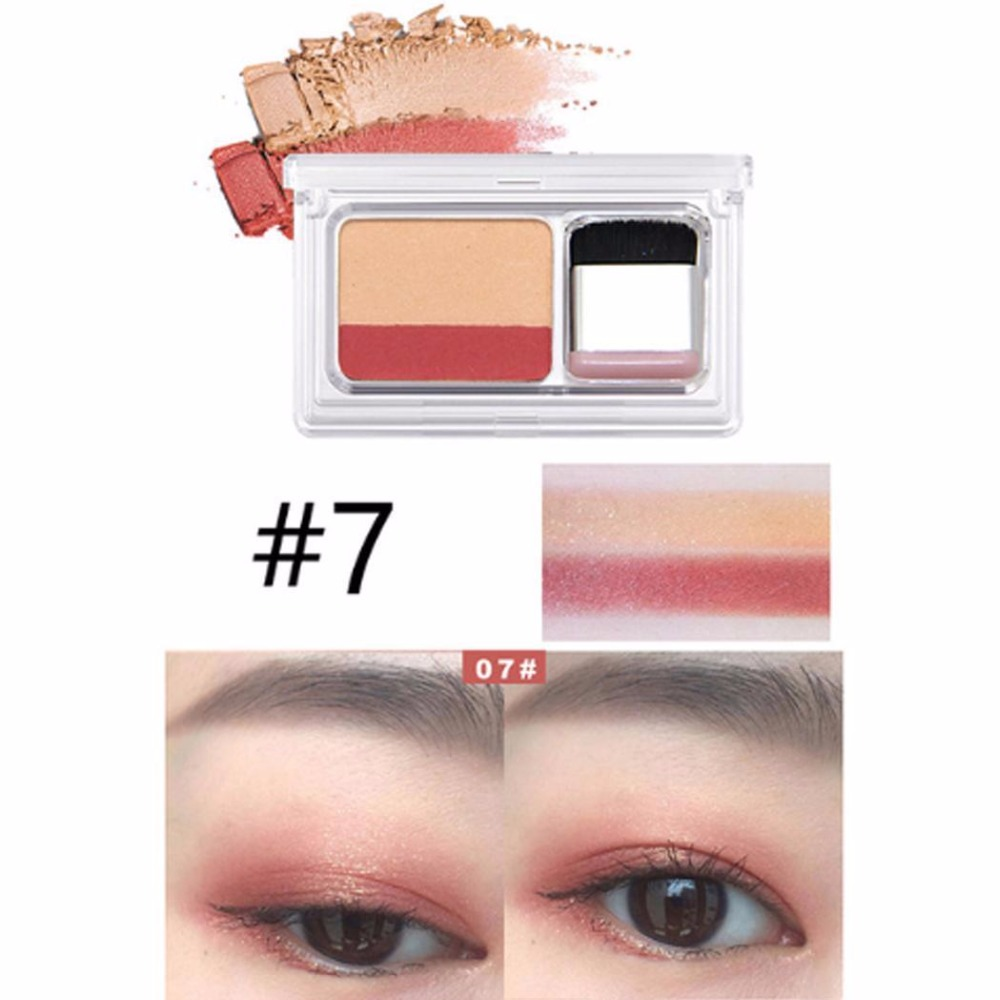 Eye Shadow Professional Sale New Professional Dual Color Eye Shadow Stick Pearl Lustre Waterproof Sweat-proof Eye Makeup Cosmetic Set Strong Packing