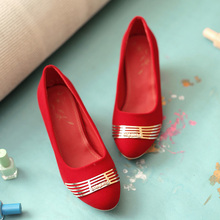 New 2015 big size 30-50 fashion spring/autumn women shoes solid flock Metal decoration High heels small size 30 31 32 33 HQW212