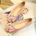 Сша 10 11 EUR 42 43 большой размер женщин лакированной кожи комфорт квадратных ног туфли-пенни квартиры дамы бисероплетение балетки