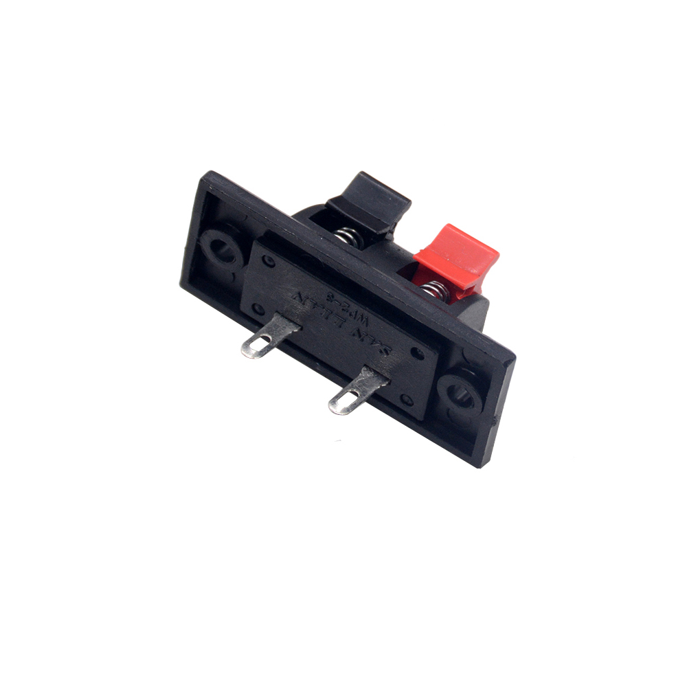5pcs/lots 2 Positions Connector Terminal Push in Jack Spring Load Audio Speaker Terminals