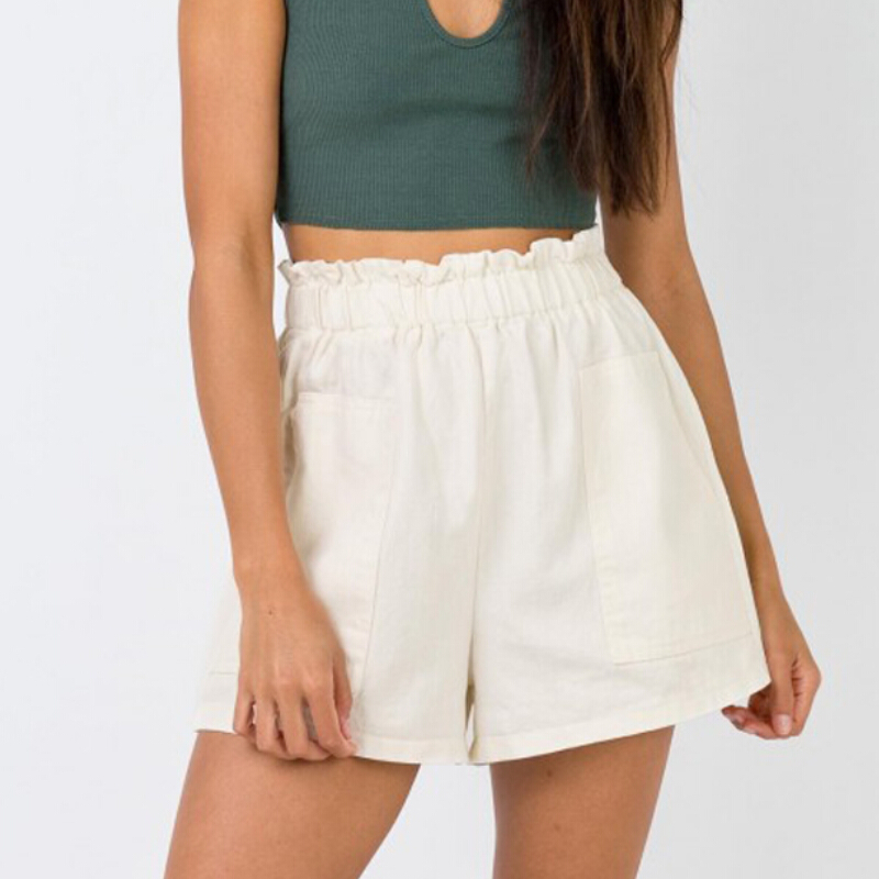 Hot Summer Shorts Women Casual Beach High Waist Cotton Linen Short Trousers Fashion Lady Shorts Women Clothes 2019