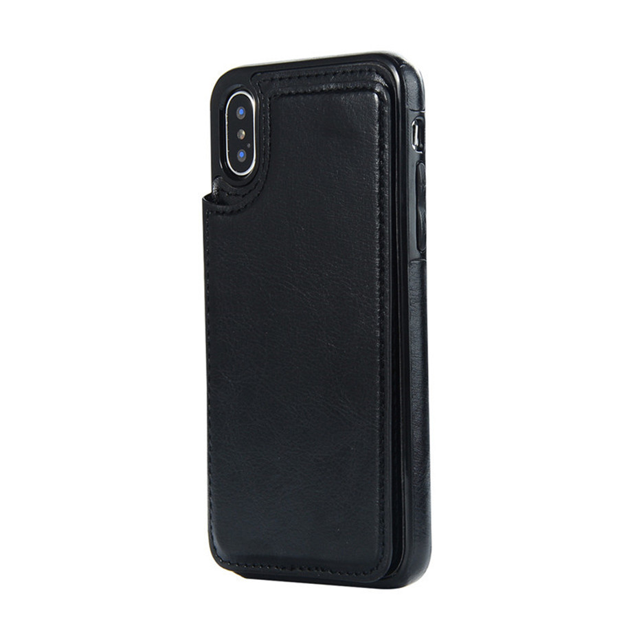 HTB1yRg6SwHqK1RjSZFgq6y7JXXa3 Luxury Slim Fit Premium Leather Cover For iPhone 11 Pro XR XS Max 6 6s 7 8 Plus 5S Wallet Case Card Slots Shockproof Flip Shell