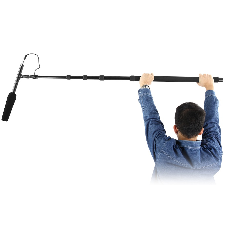 Neewer Portable Handheld Microphone Boom Pole With Built-in XLR Audio Cable, 5 Sections Stretchable 32.6-131 Inches, Aluminum