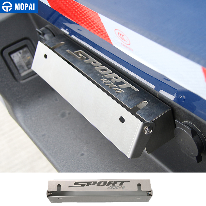 MOPAI License Plate for Ford F150 2009 Car Front Rear License Plate Bracket Holder For Ford