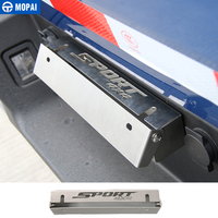 MOPAI Chrome Steel Front Rear License Plate Bracket Holder Decoration Car Exterior Accessories For Ford F150 2015 Up Car Styling