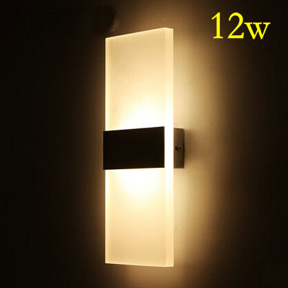 ФОТО HOT High quality 12W LED lamp Bedside lamp Warm White Light 90-265V Acrylic Bed Room Living Room Wall Sconces Y-05