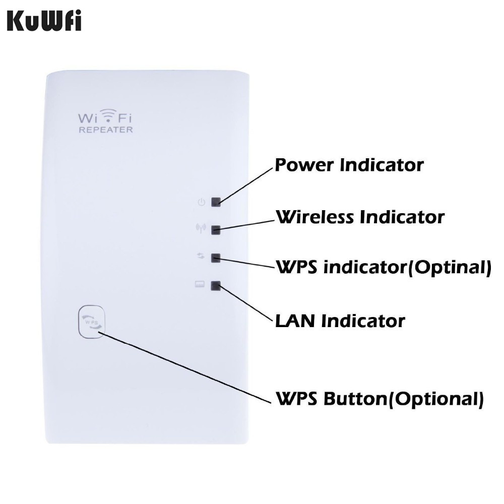 Image 1 - Wireless WIFI Repeater 300Mbps WiFi Signal Range Extender Amplifier Mini Booster Support WPS 802.11N/B/G 2dBi Antennas US/EUPlug-in Wireless Routers from Computer & Office