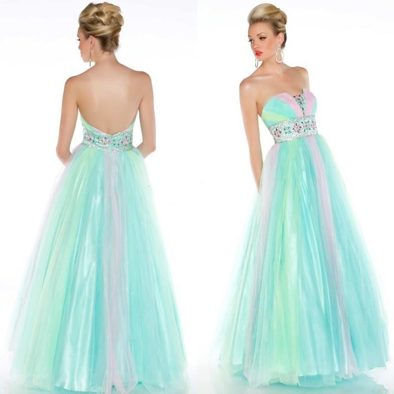 Popular rainbow bridesmaid dresses buy cheap rainbow for Rainbow wedding dress say yes to the dress