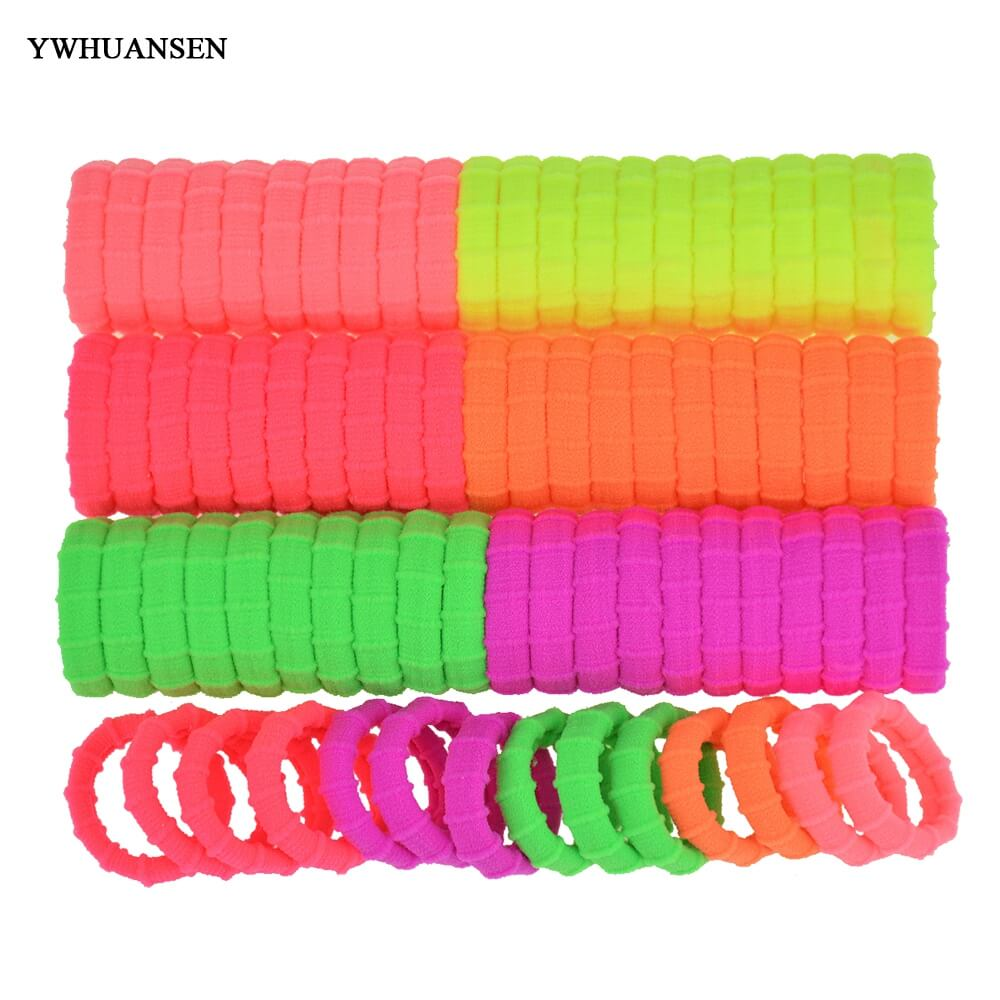 YWHUANSEN 40pcs/lot Hair bands for women Fashion Hair band Great Hair accessories Useful Elastic for the hair Nice Scrunchy gorgeous faux feather elastic hair band for women