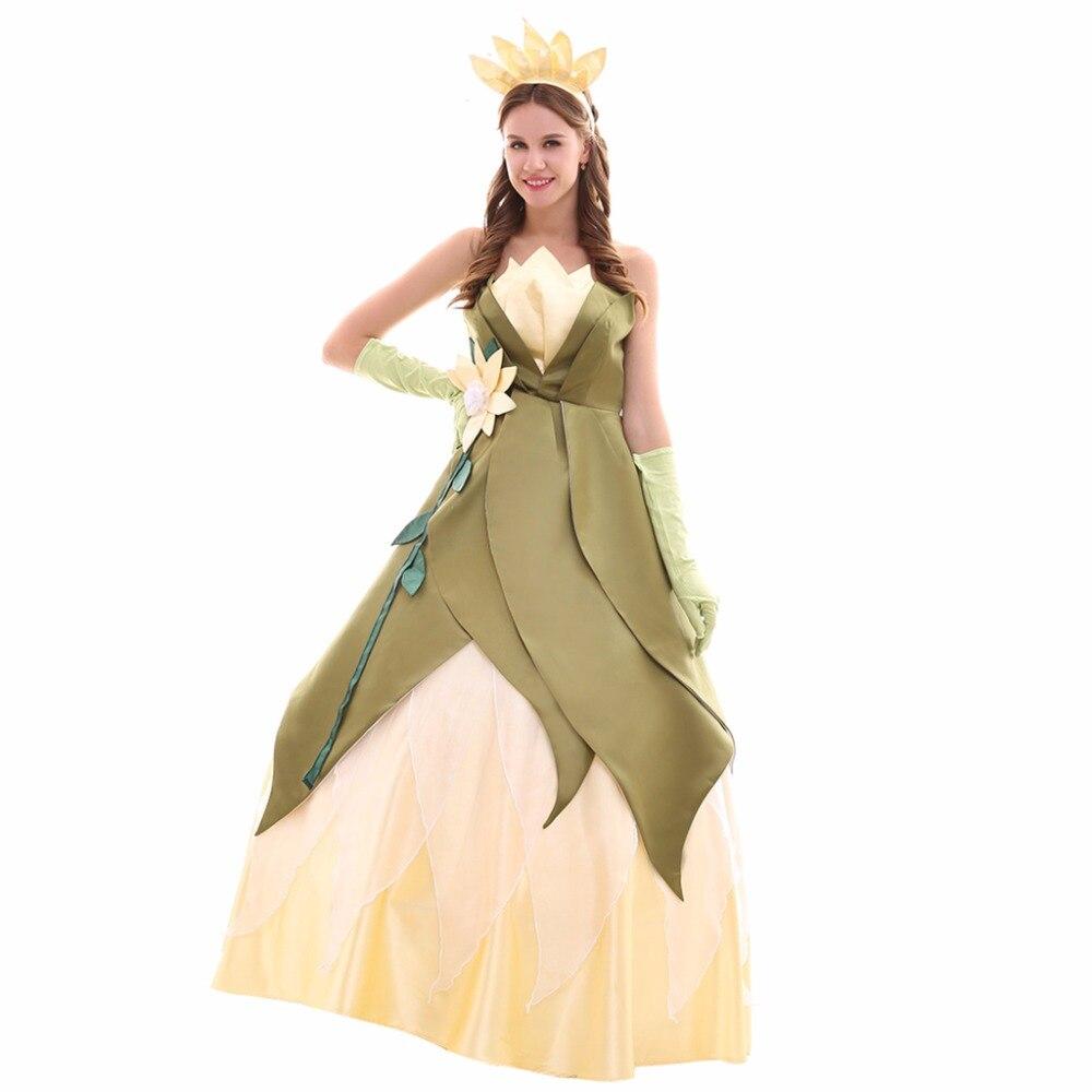 Cosplaydiy custom made luxury tiana princess dress the for Princess tiana wedding dress