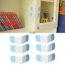 Baby Safety 6 Pcs Child Lock Cabinet Drawer Cupboard Refrigerator Toilet Door Closet Plastic Locks Child