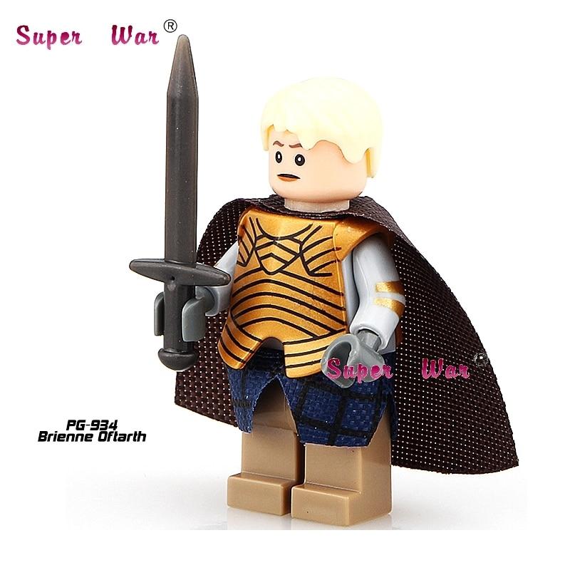 1PCS star wars superhero Game of Thrones Brienne Oftarth building blocks action set model bricks toys for children