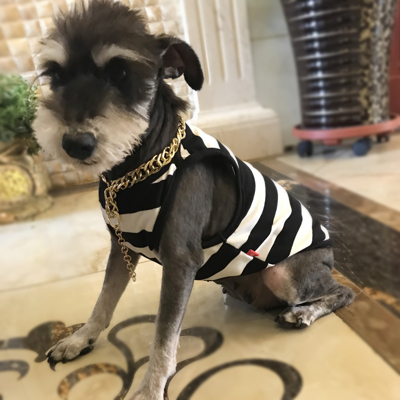 New Arrival Summer Pet Dog Clothes Puppy Sport Football Jersey Striped T  shirts Vest for Small Large Dogs Schnauzer Shirt XQ52-in Dog Vests from  Home ... 7bffbac69
