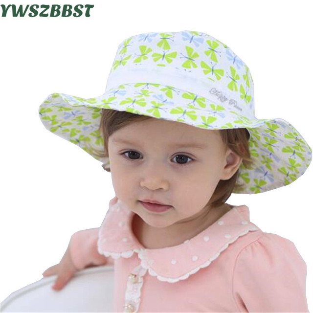 New Spring Summer Baby Hats for Girls Sun Hat Toddler Kids Infant Cotton  Cap Cute Baby Girls Hat Beach Sun Cap fit 0 to 2 Age 4a9c6055837
