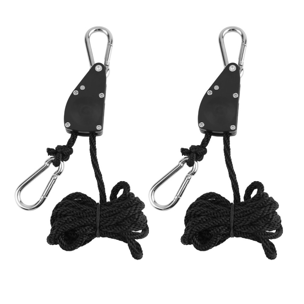 1pair 1/4 Grow Light Rope Ratchet Lights Lifters Reflector Hangers for Reflector Hood Aq ...