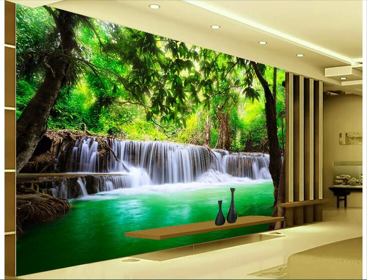 Fall Waterfall Wallpaper Hd 3d Wallpaper Custom Photo Non Woven Mural Wall Sticker 3 D