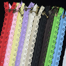 10PCS 20CM Nylon Lace Zipper for Clothes Zippers Tailor Sewing Zip Closure Craft Sewing Accessories Black Zipper for Sewing(China)