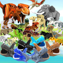 цена на 23pcs/pack building blocks Jurassic dinosaur figures with box Compatible with legoe toys building blocks star wars for child