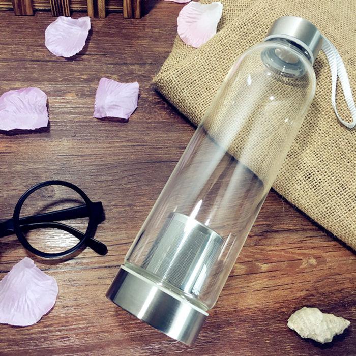 550ml üvegtea infúziós vizes palack rozsdamentes acél szűrővel - Konyha, étkező és bár
