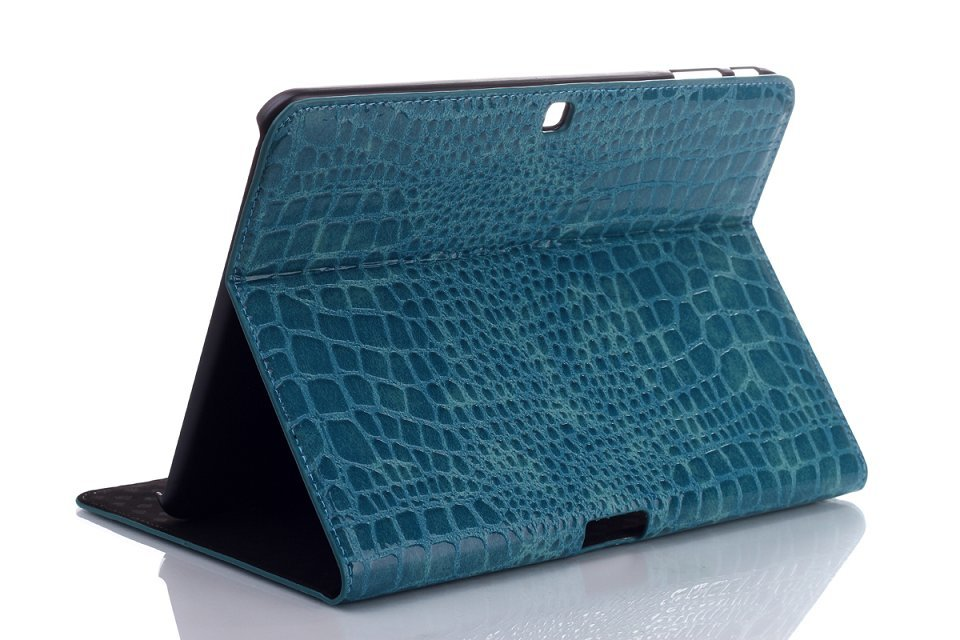 New Crocodile Magnetic Closure Stand PU Leather Protective Sleeve Cover Case For Samsung Galaxy Tab 4 10.1 T530 T531 T535 Tablet colorful print wallet book card slot business cover stand pu leather case for samsung galaxy tab 4 10 1 t530 t531 t535 tablet