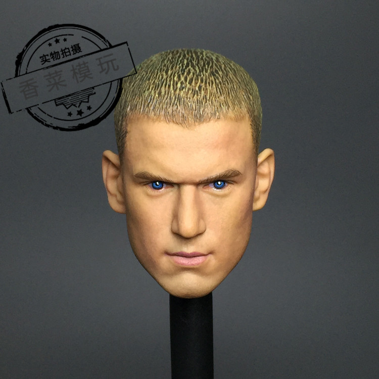 1/6 Scale Wentworth Miller Head Sculpt Male Star Headplay for 12 Collectible Figures 1 6 scale mike head carved jailbreak mike scofield wentworth miller head carving 12 figure accessories