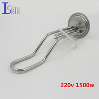 315mm 105mm Cap 220v 750w Electric Heating Tube With Temperature Control Hole Heating Element Boiler Stainless