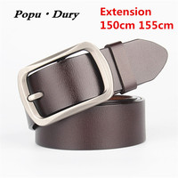 New 2017 Brand Designer For Mens Belts 100 Pure Cowskin Leather Extension Belts 150cm 155cm Pin
