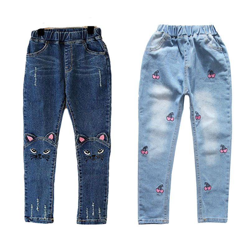 V-TREE Spring autumn 2017 stereo jeans for girls kids ripped jeans fashion jeans for teenagers girl denim jeans 2018 new men jeans ripped jeans for men biker jeans european and american style slim fit high quality fashion 1711